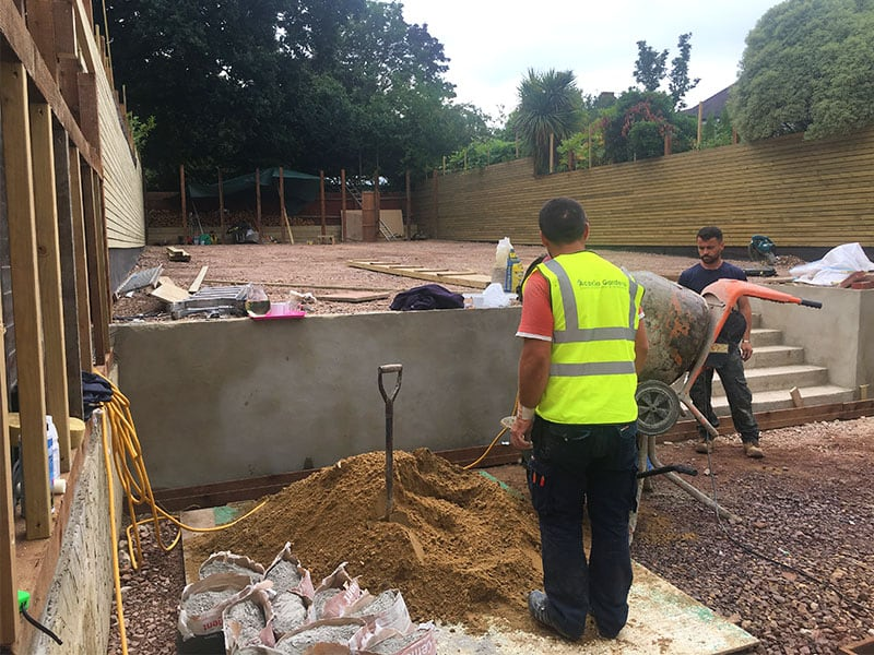 retaining wall landscaping winchmore hill construction