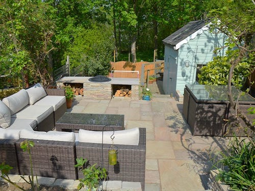 fire pit dry walling and garden paving crouch end n8 landscaping