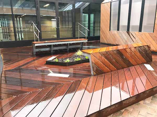 commercial decking roof gardens image